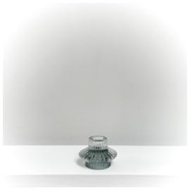 2-in-1 kandelaar helder/groen glas