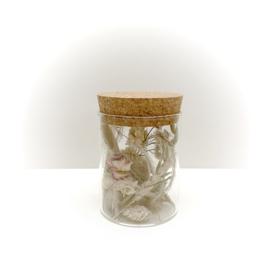 kurkenpot met droogbloemen 'wit'