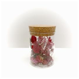 kurkenpot met droogbloemen 'rood'