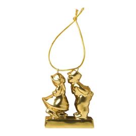 Kersthanger Kussend paar Goud