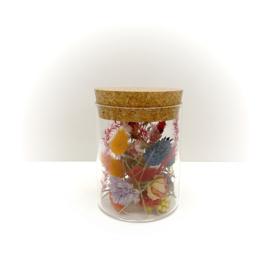 kurkenpot met droogbloemen 'kleurrijk'