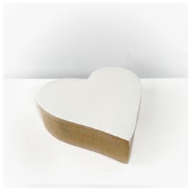 Houten hart wit