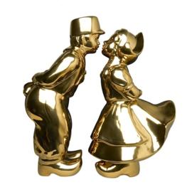 Kissing couple goud XL