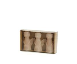 Set van 3 Engel kaarsen Skin 8cm