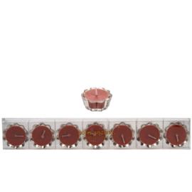 Bloemkaarsje roze (7 st)