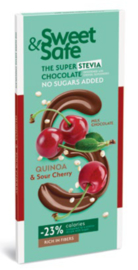 Quinoa and Sour Cherry Milk Chocolate - Stevia