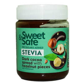 Dark Cocoa Spread with Hazelnut Pieces - Stevia