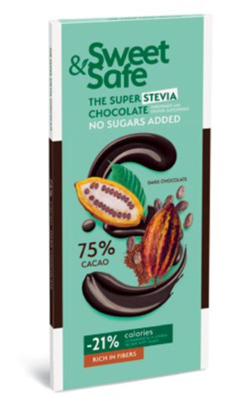 Dark Chocolate (75% cocoa) - Stevia