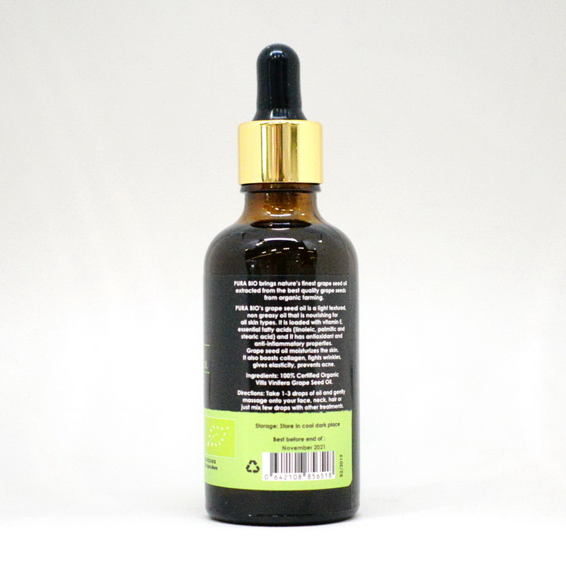Grape Seeds Oil - Cold Pressed - BIO