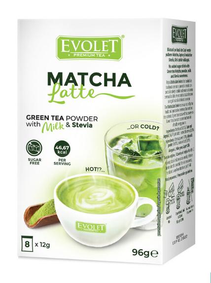 Matcha Latte with Stevia (No added sugar)