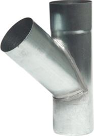 T-stuk 45 graden - 80mm zink
