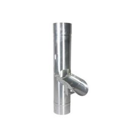 regenklep - 80mm zink