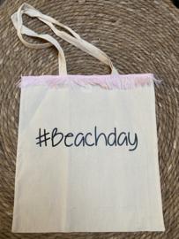 #Beachday roze franjes