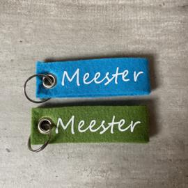 Vilten sleutelhanger     Meester