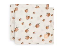Jollein hydrofiele multidoek 115x115cm Peach 2-pack
