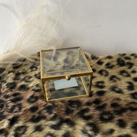 Glazen box     8x8x6cm