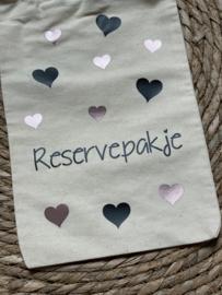 Reservepakje 'zwart en rosé gold hartjes'