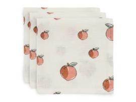 Jollein monddoekje hydrofiel Peach 3-pack