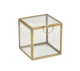 Glazen box kubus   10x10x10cm
