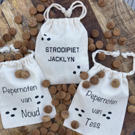 Zakje     Strooipiet 'naam'