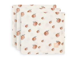 Jollein hydrofiele multidoek 70x70cm Peach 3-pack