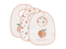 Jollein slabbetje peach 3 stuks