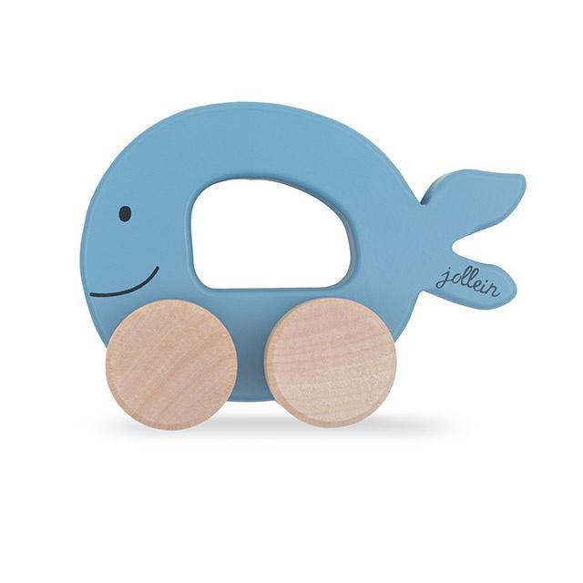 Jollein speelgoedautootje walvis blue