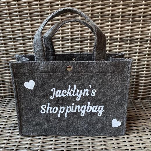 Kleine vilten tas    Shoppingbag