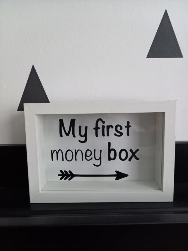 Spaarpot     My first money box -->
