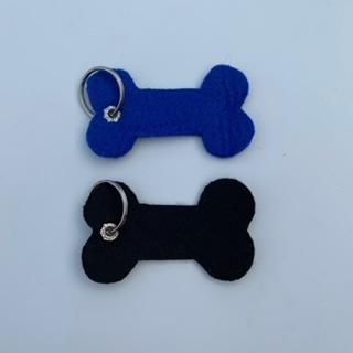 Vilten sleutelhanger  |  Hondenbot naar wens