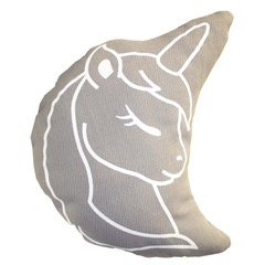 Kussen     Unicorn shape grijs