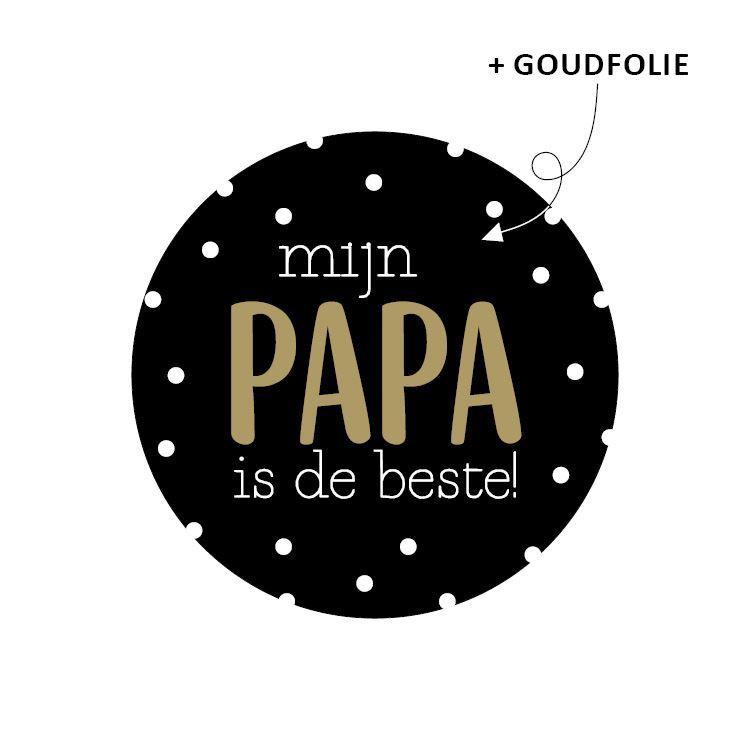 Ronde stickers Papa de beste     10 stuks