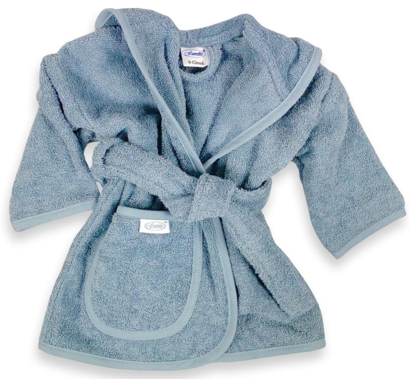 Funnies badjas grey/blue 2-4 jaar