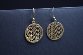 Flower of Life messing goudkleurig
