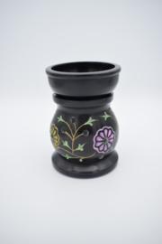 Olieverdamper Flowers zwart