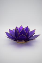 Lotus sfeerlicht violet met goudrand