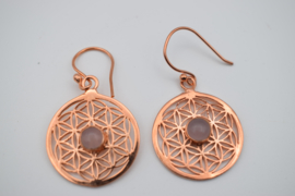 Flower of Life met rozenkwarts