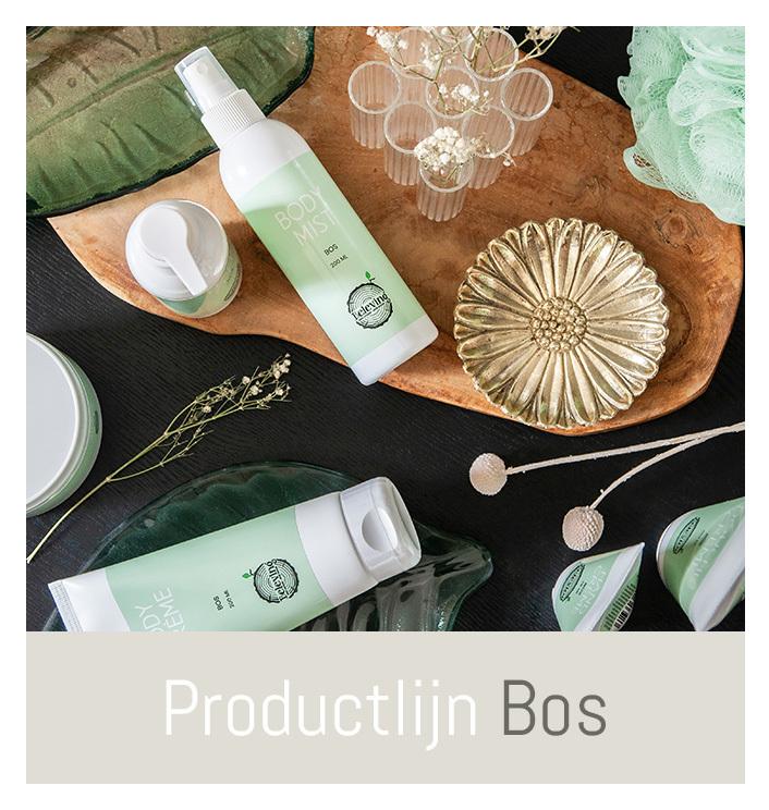 Productlijn Bos, warme verzorgingsproducten   Beleving
