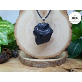 Ruwe Hanger Large - Obsidiaan