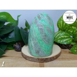 Groene Maansteen - Aangepolijst sculptuur XL5