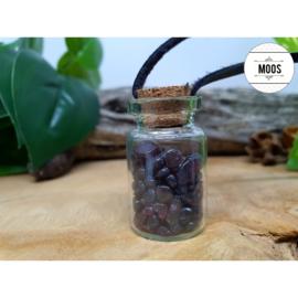 Granaat - Flesje aan waxkoord