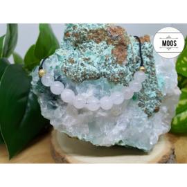 Powerbeadsbandje VSB - Witte Jade
