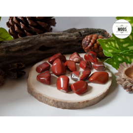 Rode Jaspis - trommelsteen
