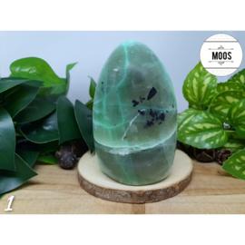 Groene Maansteen - Aangepolijst sculptuur XL3