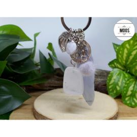 Sleutelhanger - Bergkristal