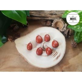 Geslepen Hanger Small  - Rode Jaspis