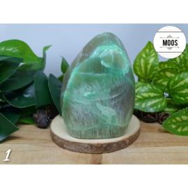 Groene Maansteen - Aangepolijst sculptuur XL4