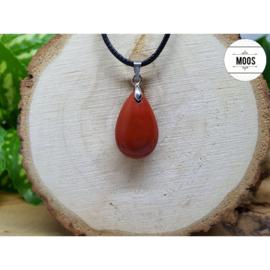 Druppelhanger - Rode Jaspis