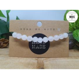 Powerbeadsbandje - Witte Jade