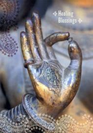 Healing blessings dubbele kaart